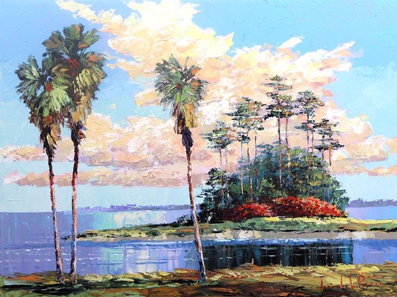 """""""Island Hammock"""" - 30x40 - HOLD"""