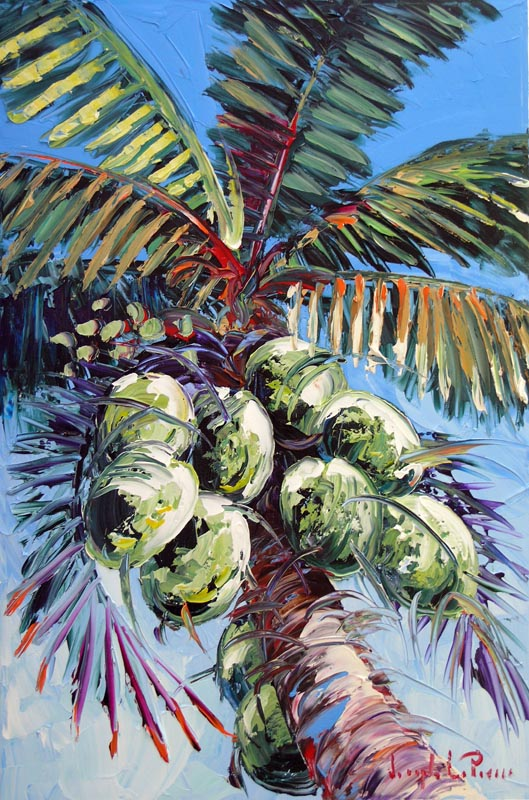 """""""Green Coconuts"""" - 24x36 SOLD"""