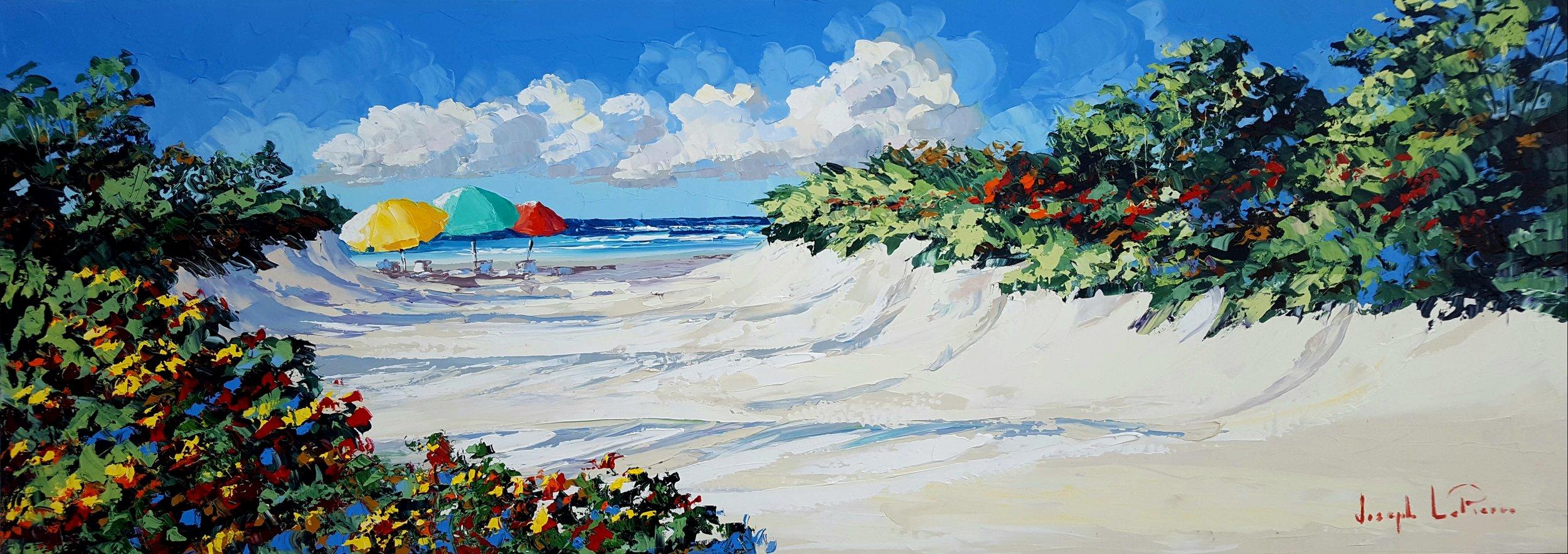 """""""Quiet Beach"""" - 24x66 - $4,000.00"""