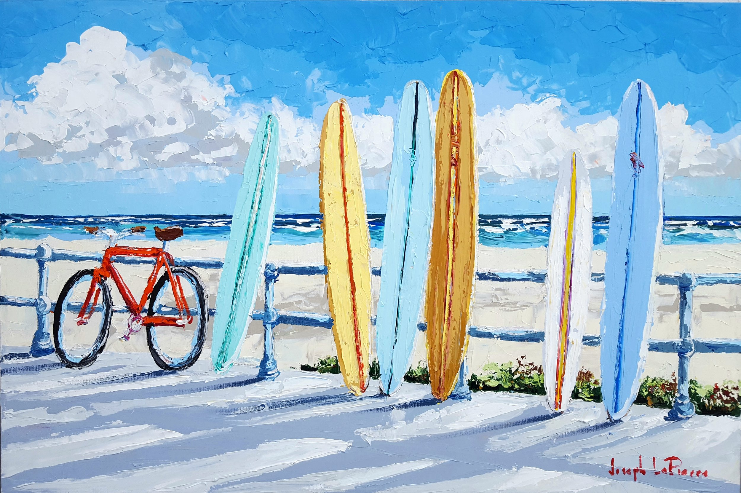 """""""Surf Watch"""" - 24x36 - $2,800.00"""