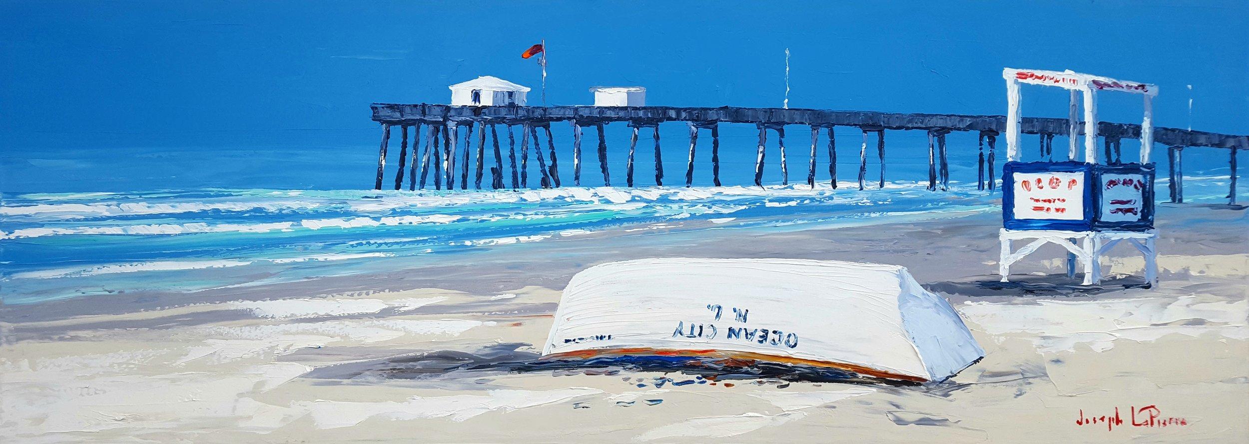 """""""The Shore"""" - 24x66 - $4,000.00"""