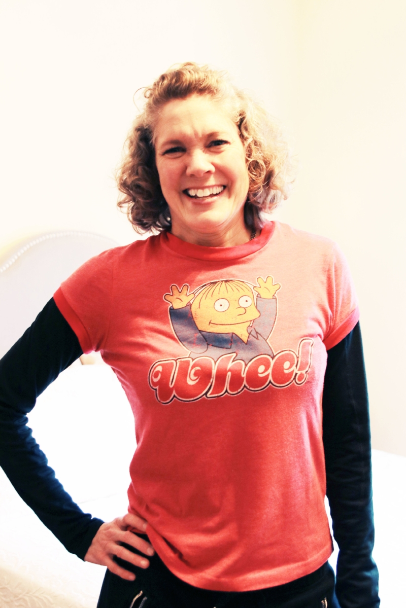 Photo :  Carolina O'Neal //The Shirt Says it All: Whee!