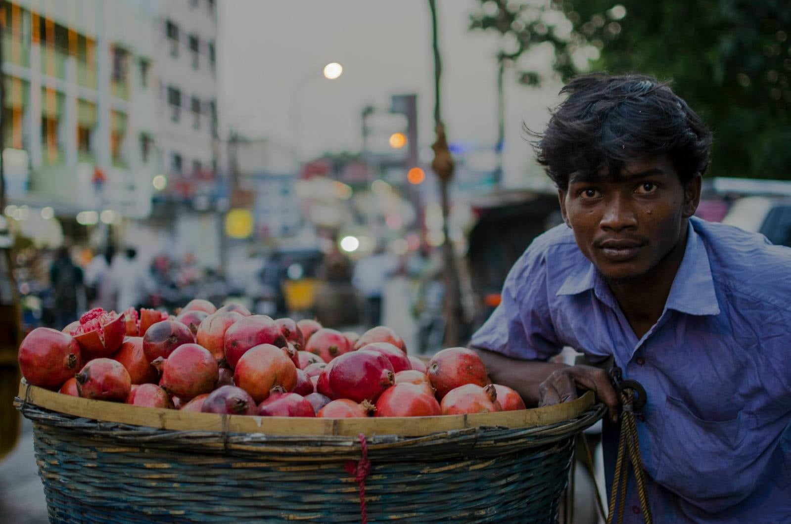 This guy is a fruit seller in Mylapore, near the Kapaleeshwar temple. He was so happy to have his photo taken because he thought I was a media guy and that he was going to be on the newspaper the next day!