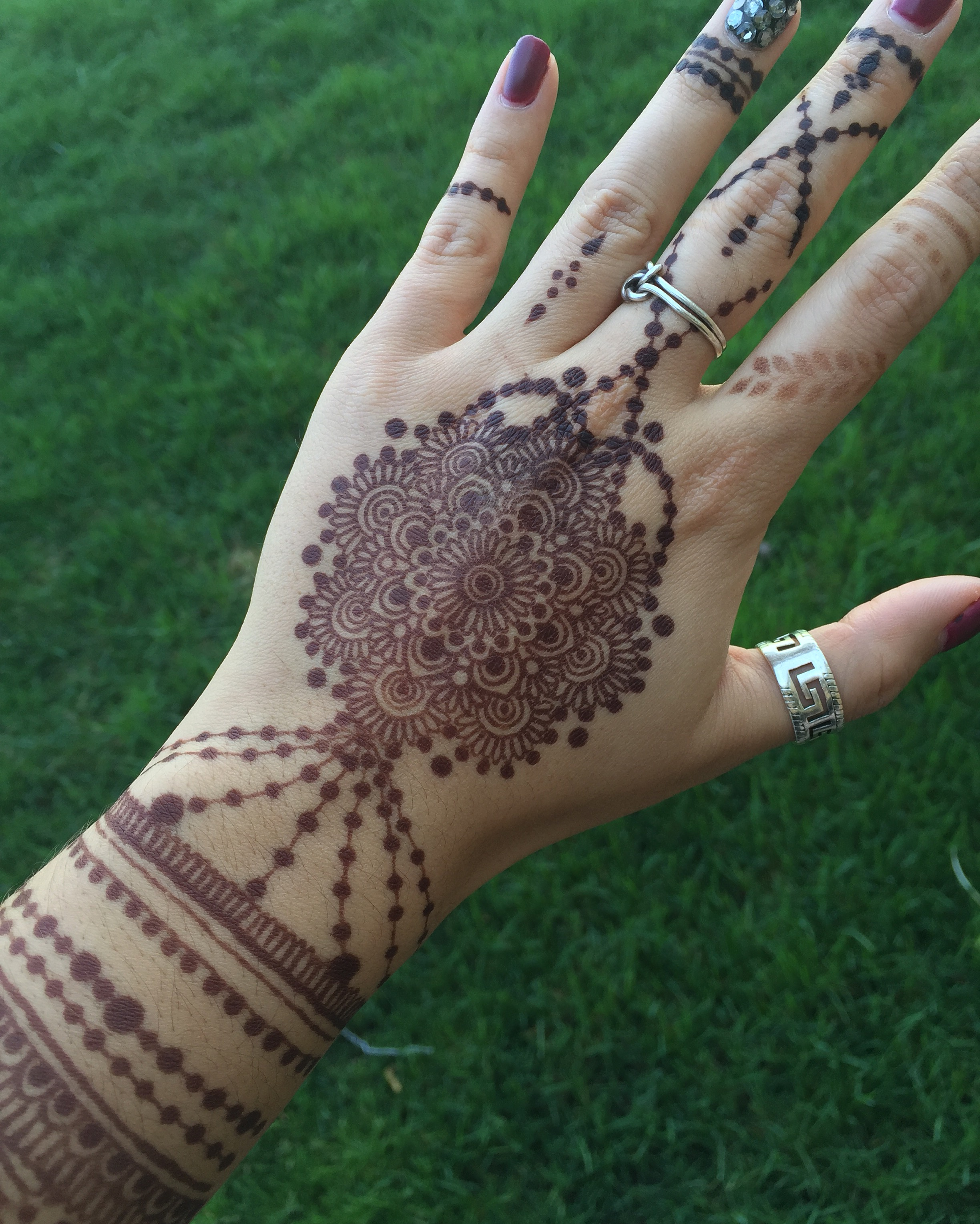 jagua/henna hand design by yours truly
