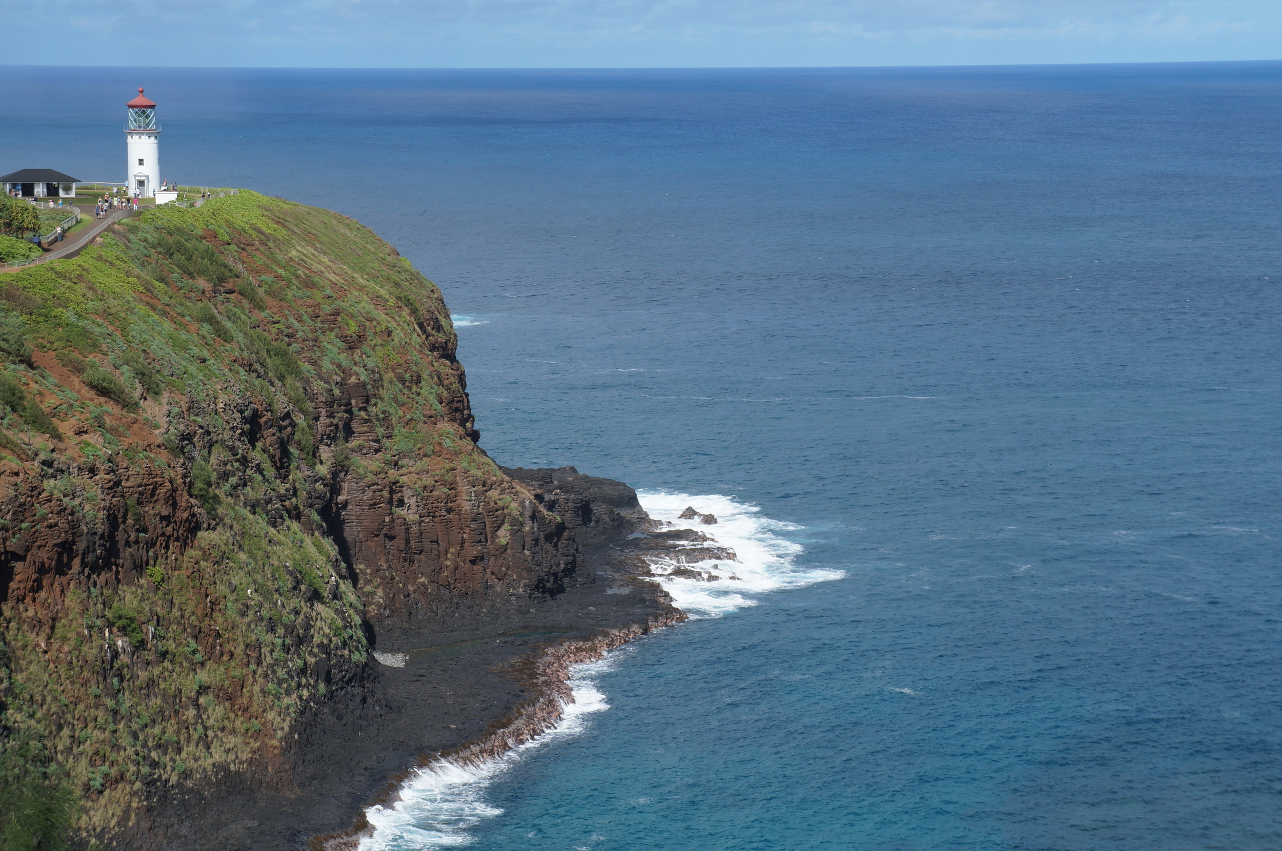 Kilauea Lighthouse near Princeville and on the way to Honalei Bay.