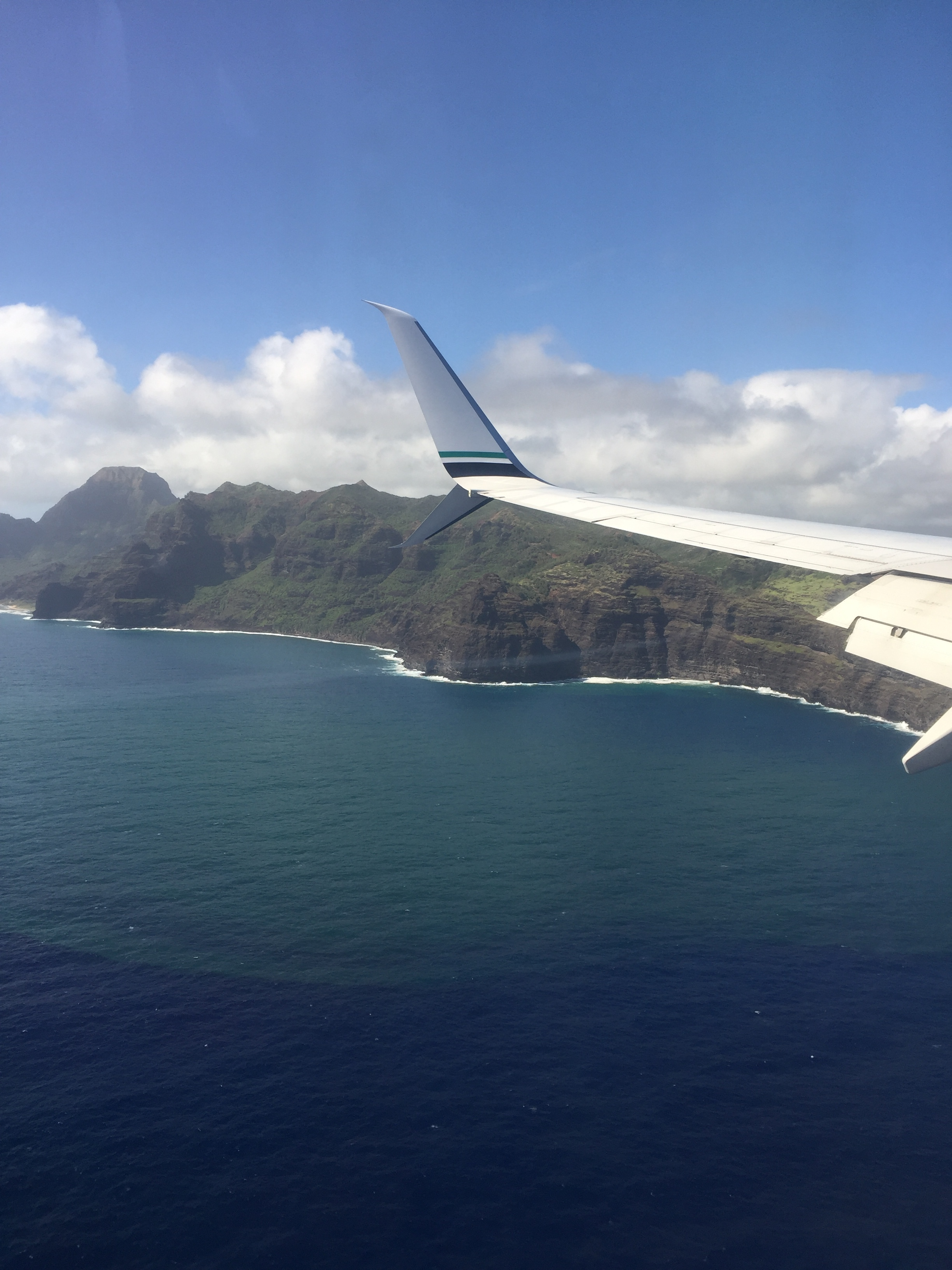 Coming in to Lihue airport.