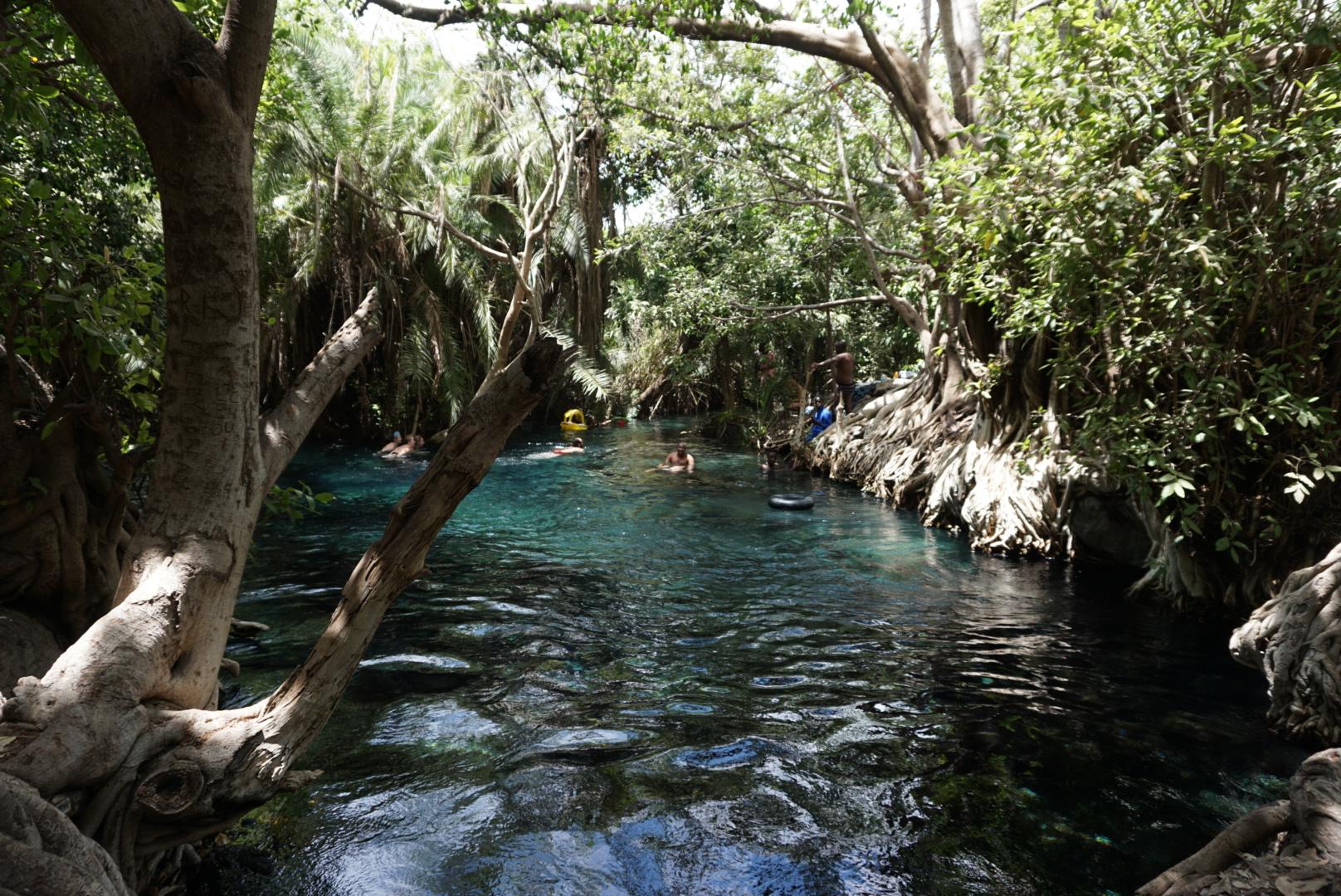 Maji Moto hot springs. Locally known as Chemka hot springs.