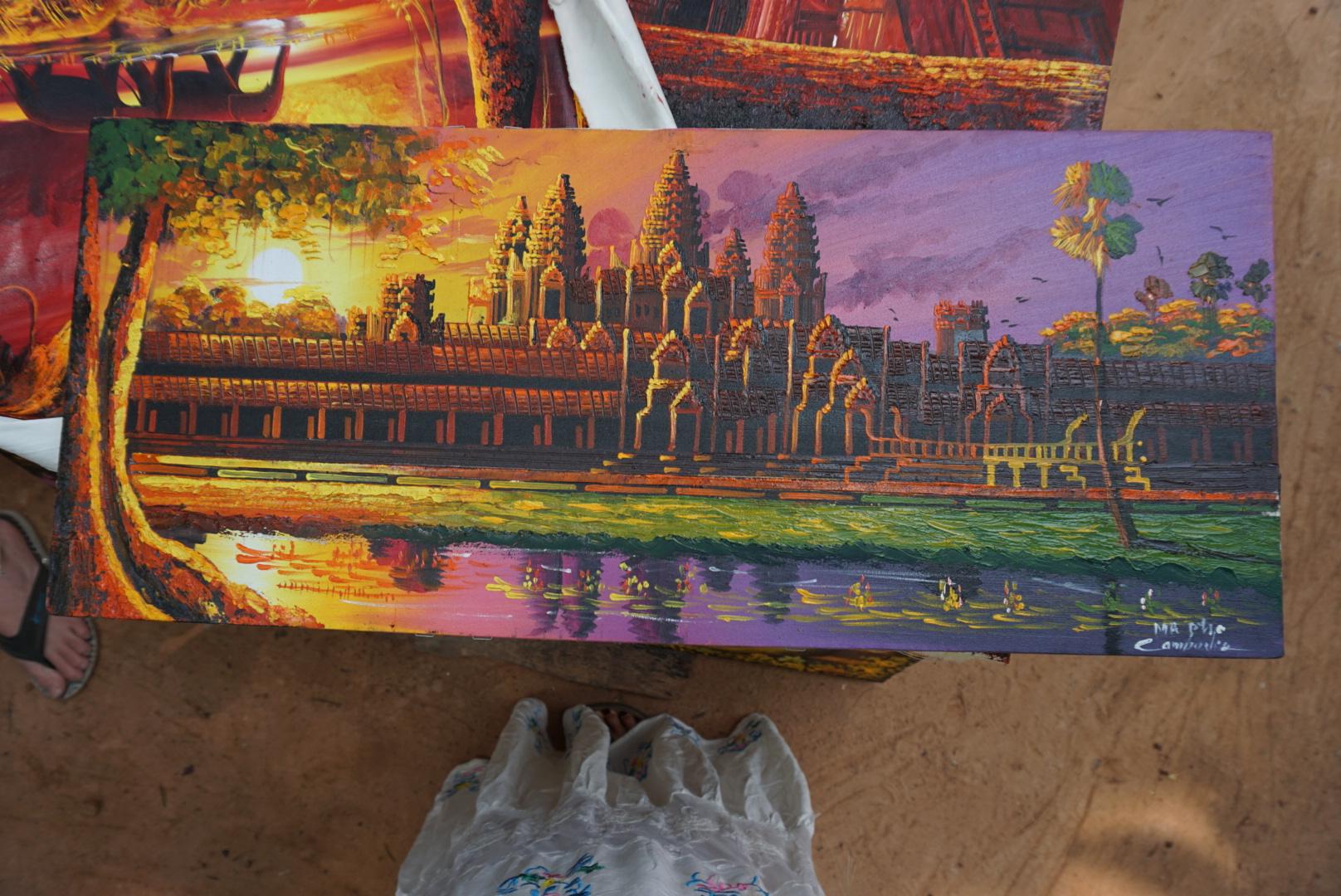 Cheap Angor Wat paintings