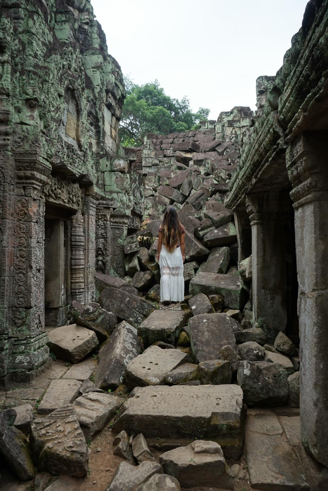 Crumble at Preah Khan