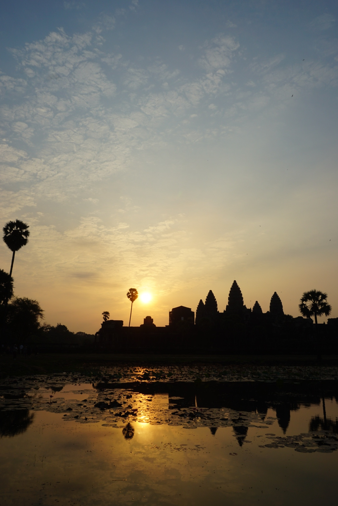 Angkor Wat once the sun came up higher