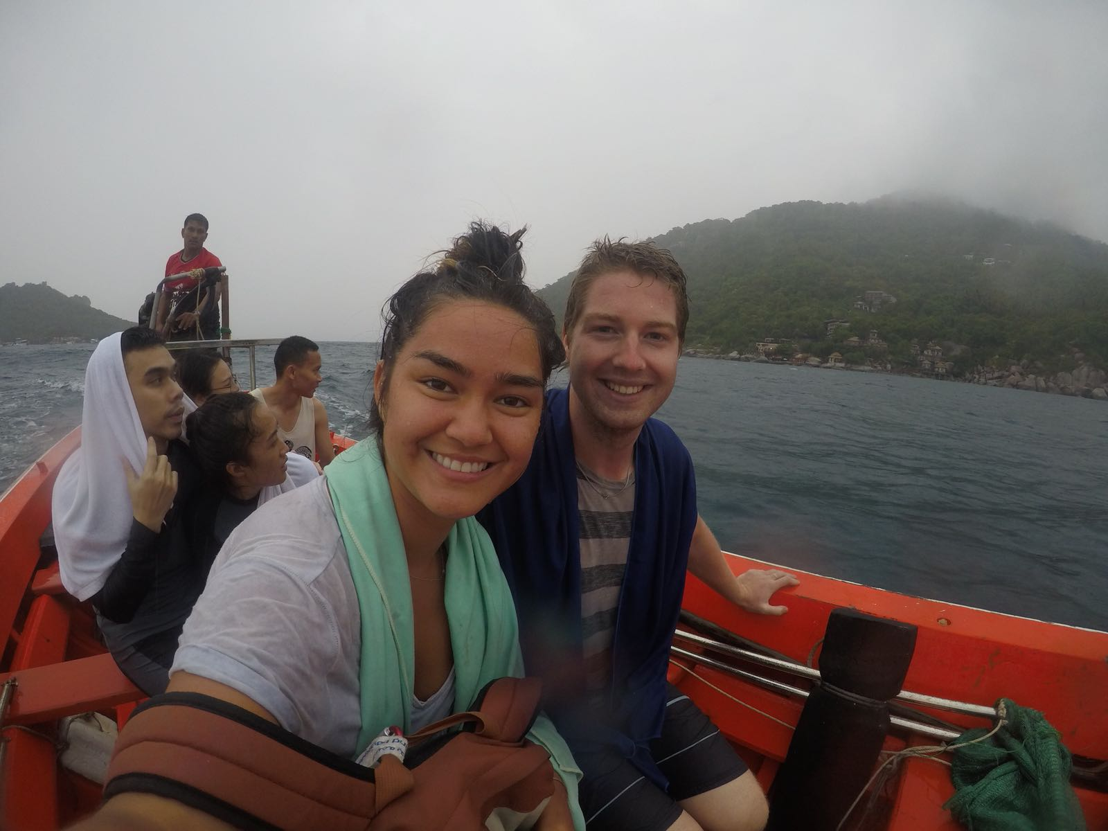 Our terrifying ride back to Koh Tao through the storm.
