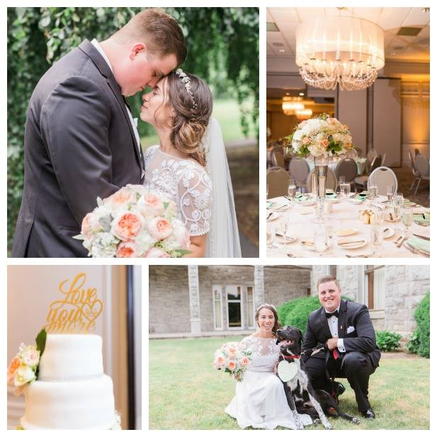 """Brittany and Stephen's """"Pinterest meets ballroom"""" wedding at  The Ethan Allen Hotel was filled with the sweetest details!"""