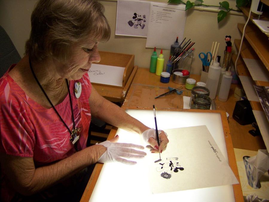 Hand painted animation art cel