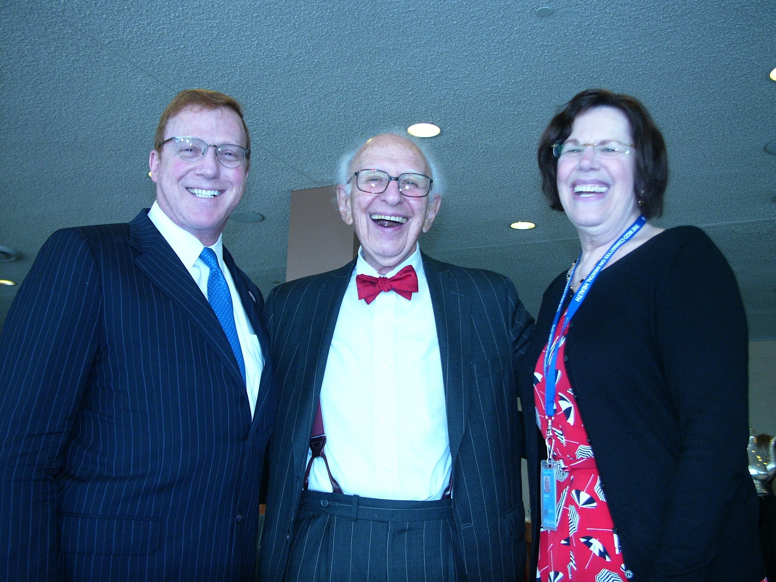 Dr. saul Levin - CEO and Medical director of american psychiatric association, Dr. eric r. kandel - 2000 nobel prize winner and keynote speaker, and dr. vivian pender - chair ngo cmh at un ngo committee on mental health 20th anniversary gala luncheon 10/21/2016