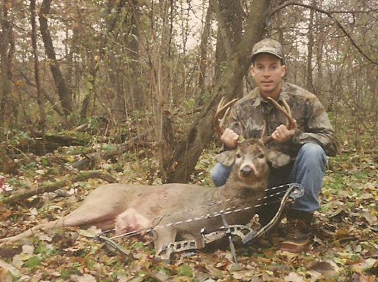 Bill with one of his first Wisconsin whitetails.