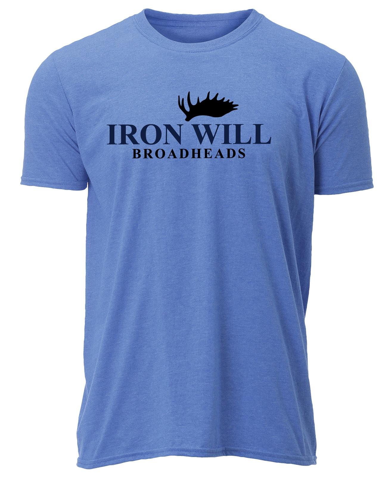 Iron Will Logo T-Shirt - Blue - $24.95