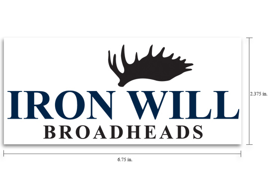 Iron Will Broadheads Decal - $4.95