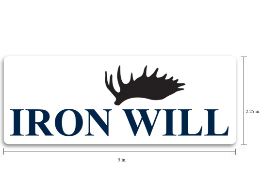 Iron Will Logo Decal - $4.95