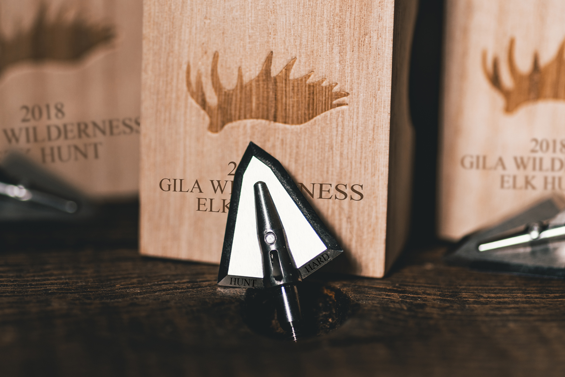 Custom Engraved Broadheads - And Individual Wood Box