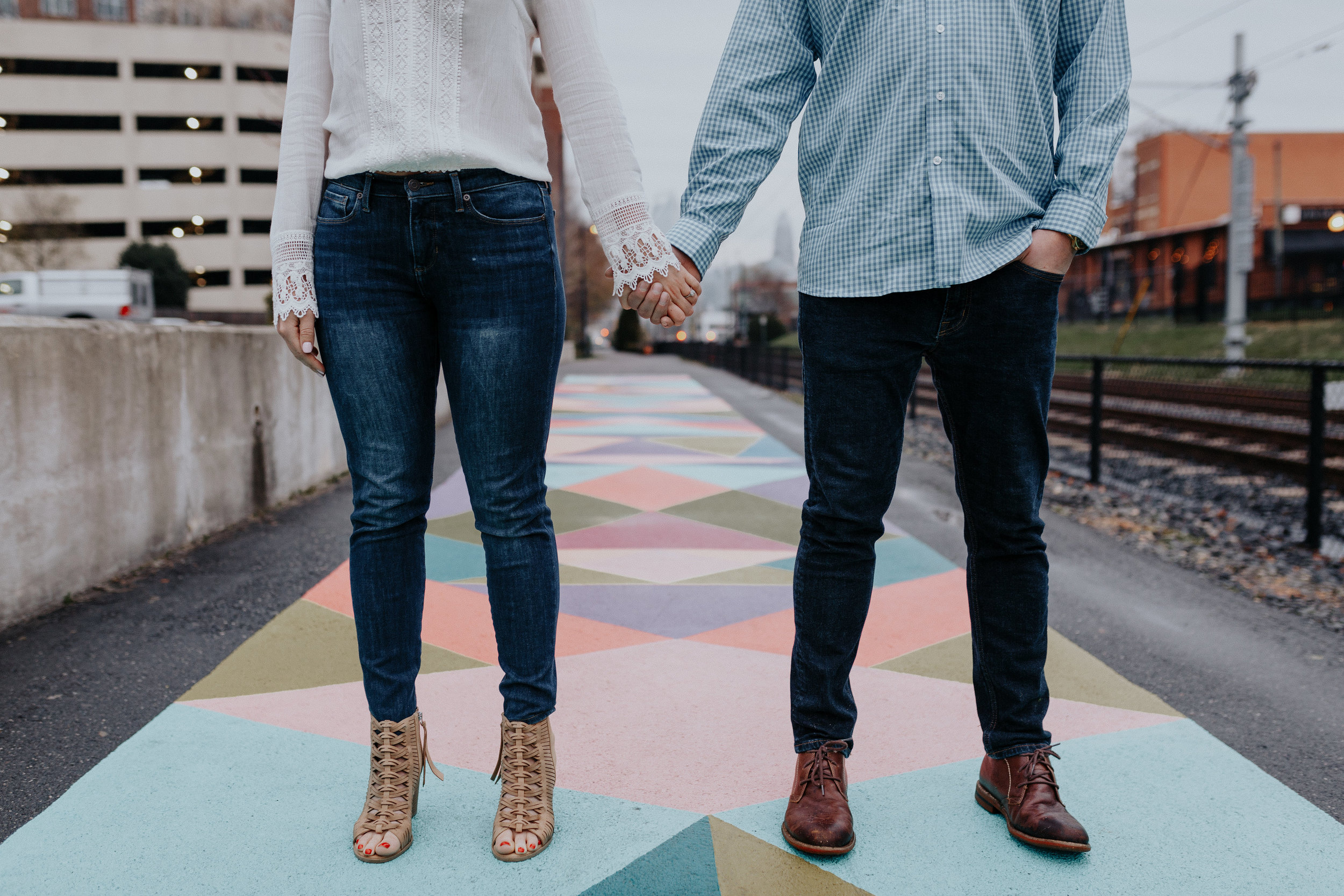 charlotte photographer in south end for engagement sessions and needs locations