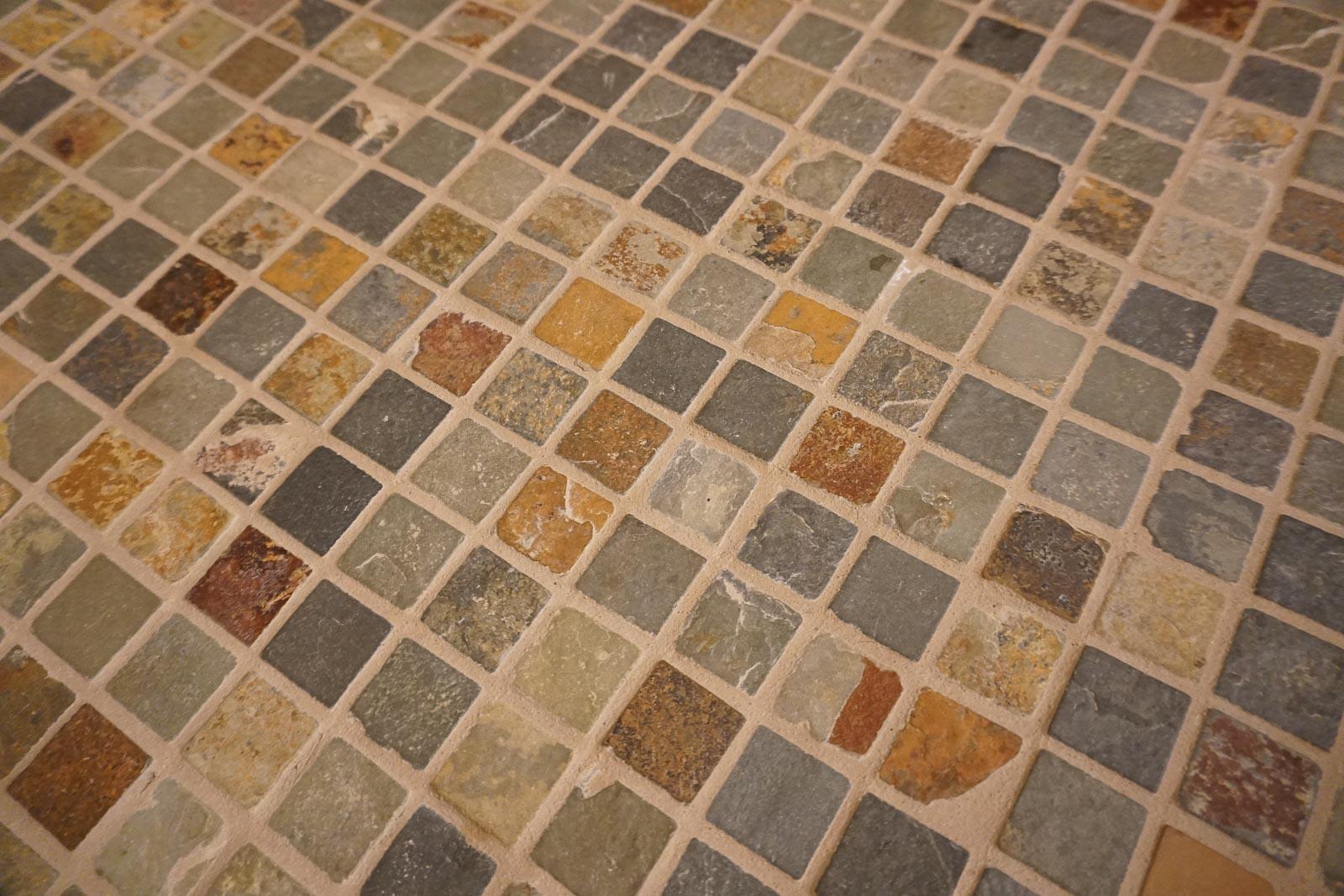 Slate mosaic tile . . .