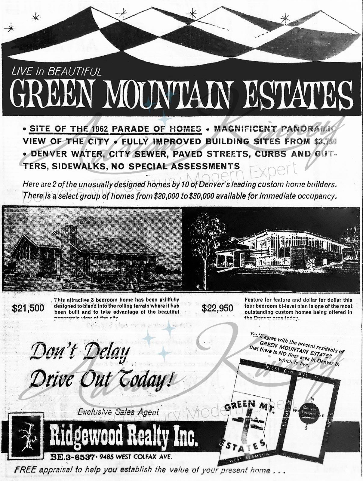 Live in Beautiful Green Mountain Estates.
