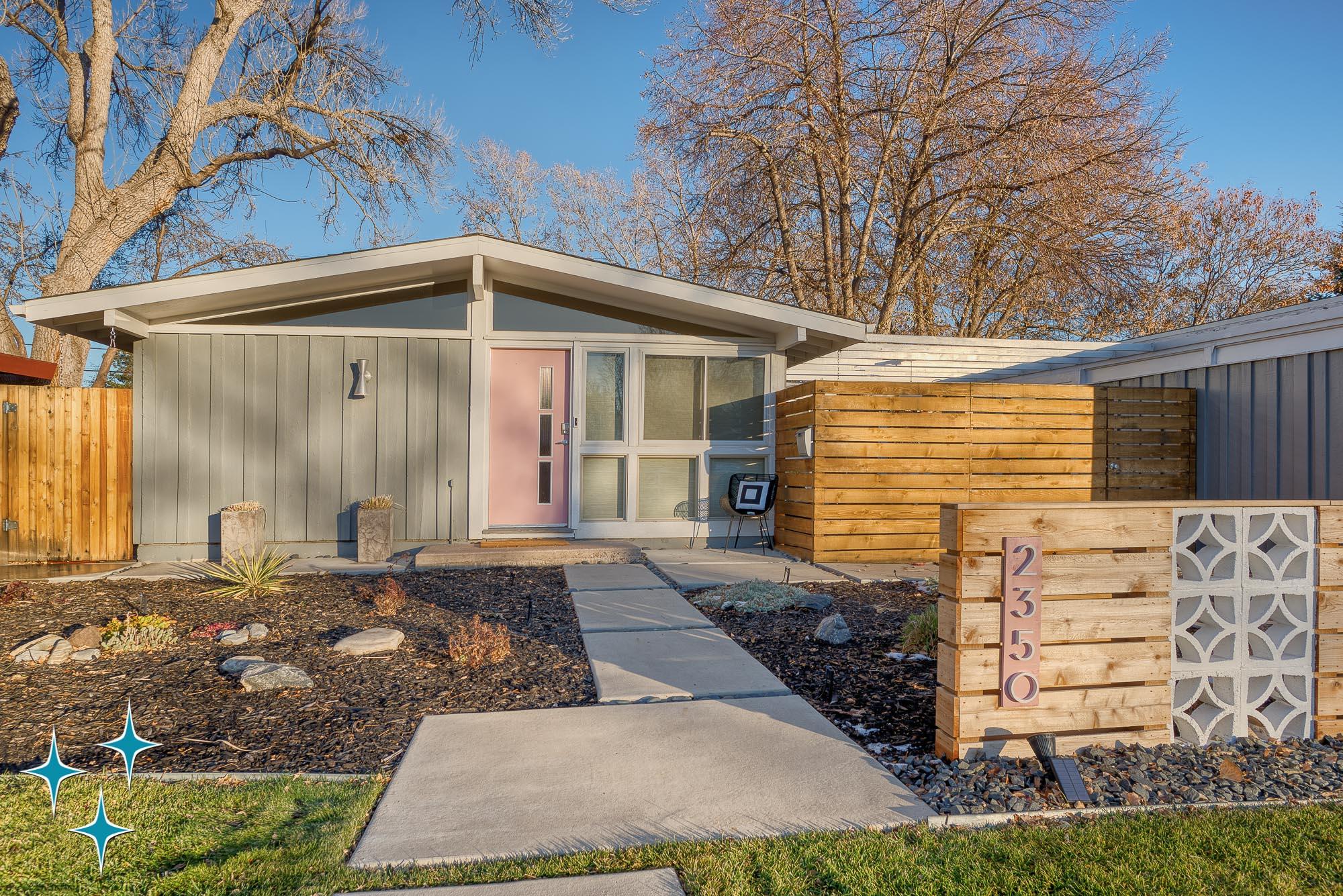 2350 S Osceola Street, a Cliff May Home in Denver's Harvey Park neighborhood. SOLD by Arian Kinney. Photo by Atom Stevens Photography.