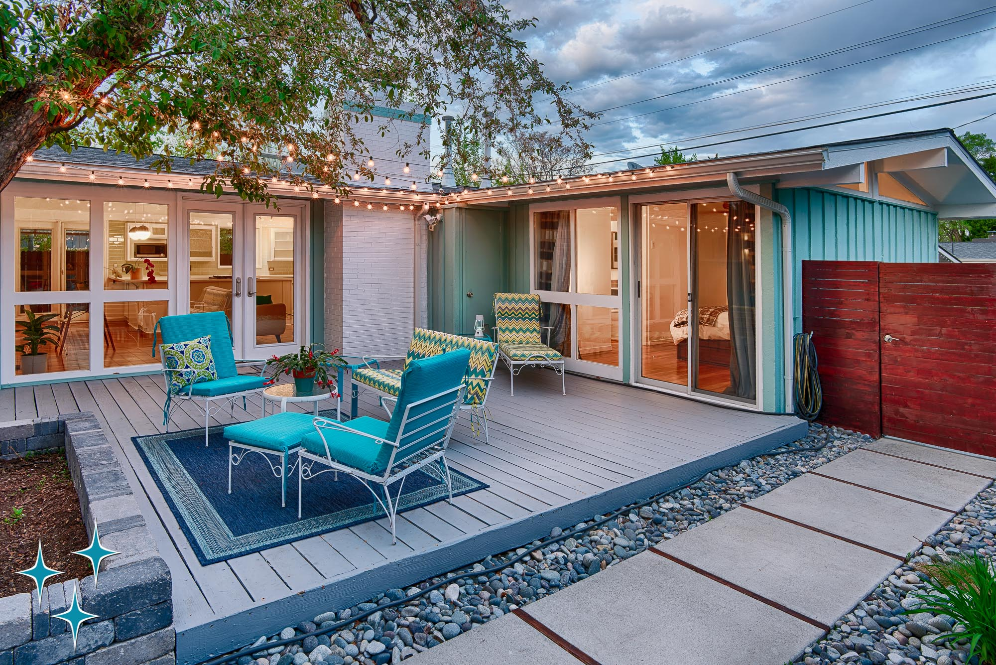 Indoor-outdoor connection at 2500 S Meade St in Denver's Harvey Park. Offered by Adrian Kinney, Broker Associate, Resident Realty South Metro