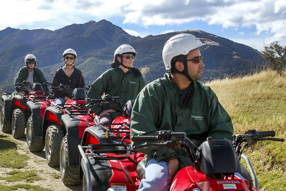 Quad biking through Kaikoura rugged coastline is a thrilling and scenic ride.