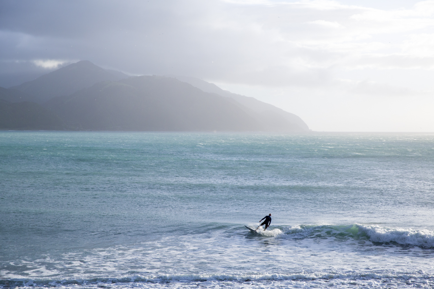 Mangamaunu surf break is around the bend from the Lodge.