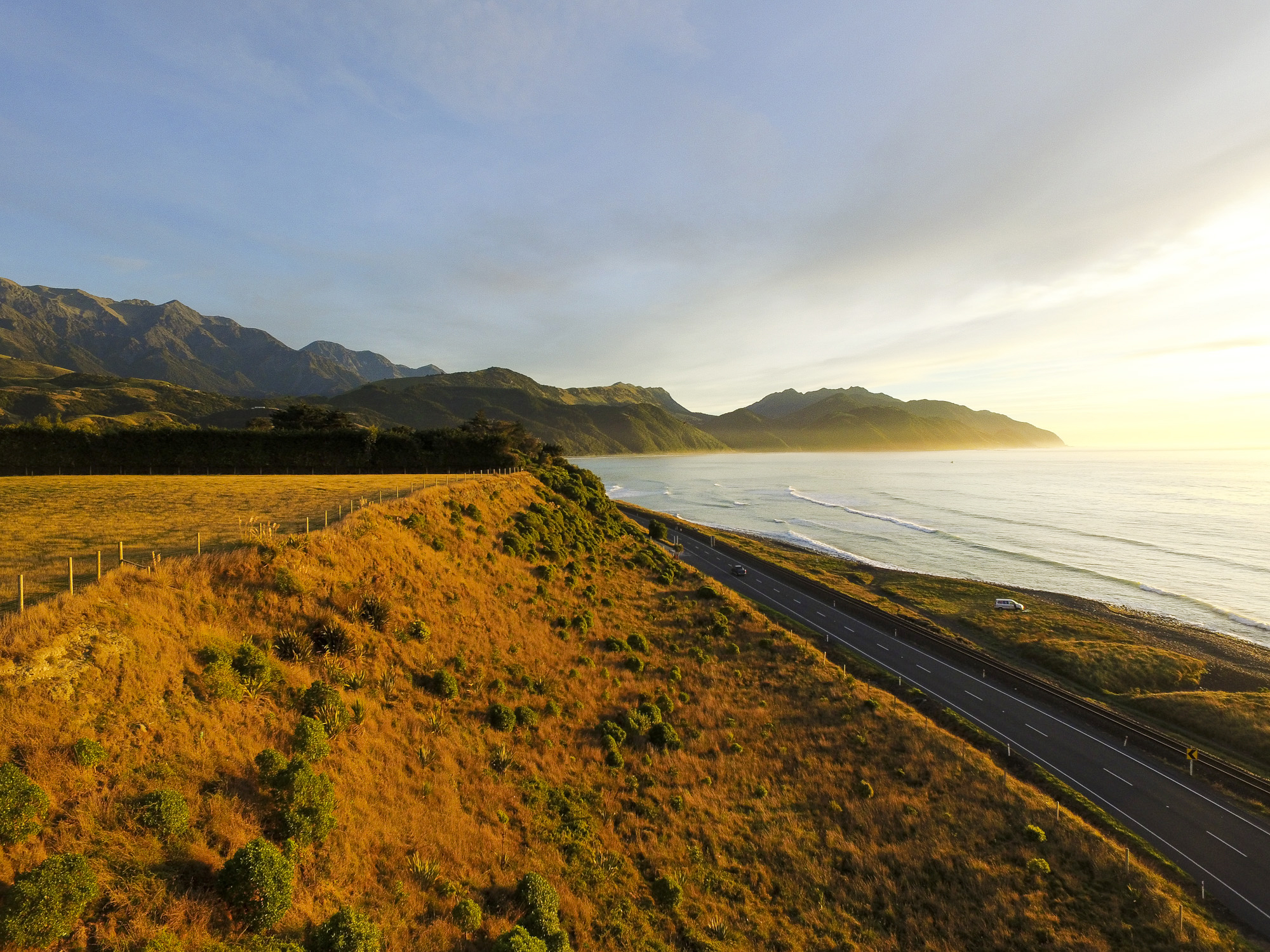 State Highway One - North of Kaikoura, South Island, New Zealand