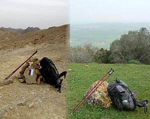 The Israel National Trail runs from the deserts of the south to the green mountain ranges of the north.