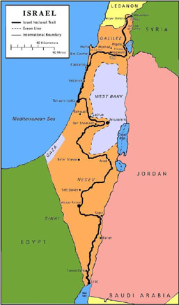 Map of the Israel National Trail