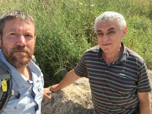 Wolverine with Jacob Saar, author of the Israel National Trail guide book