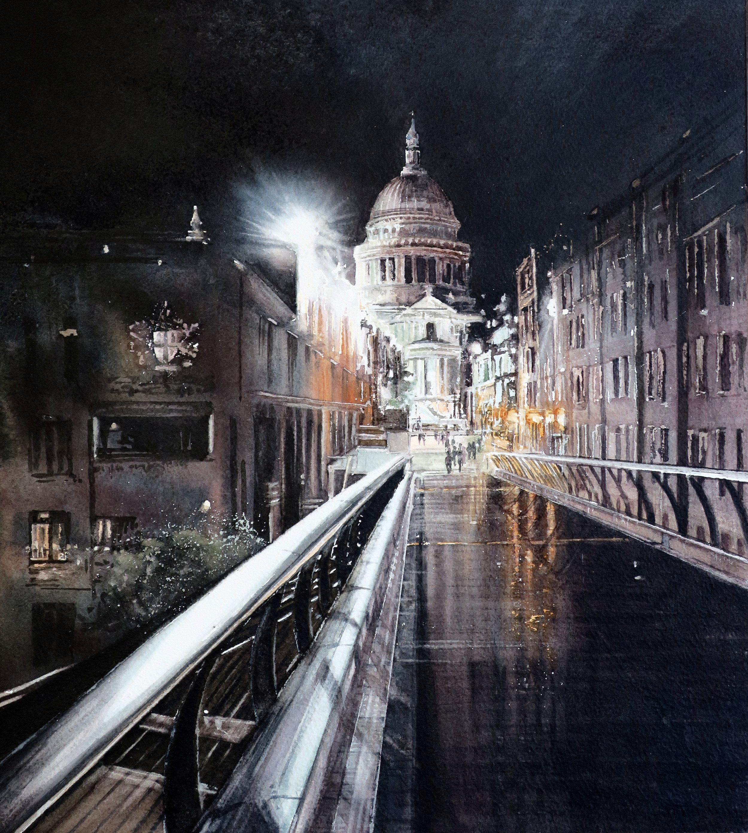 St. Paul's by night