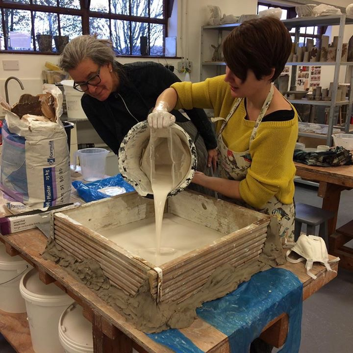 Making Plaster Bats with Eunice Locher at The Clay Studio