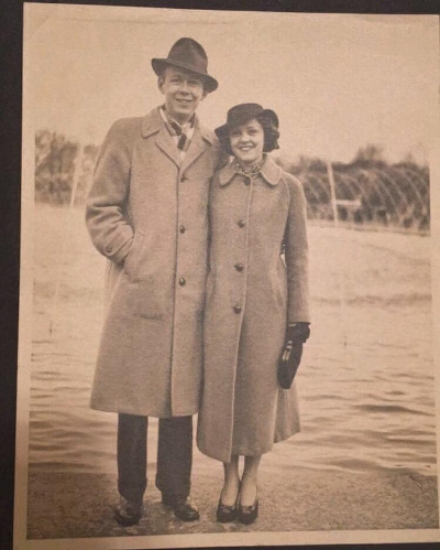My Great-Grandfather and Great-Grandmother: Jack and Evelyn Wells. 1937 -