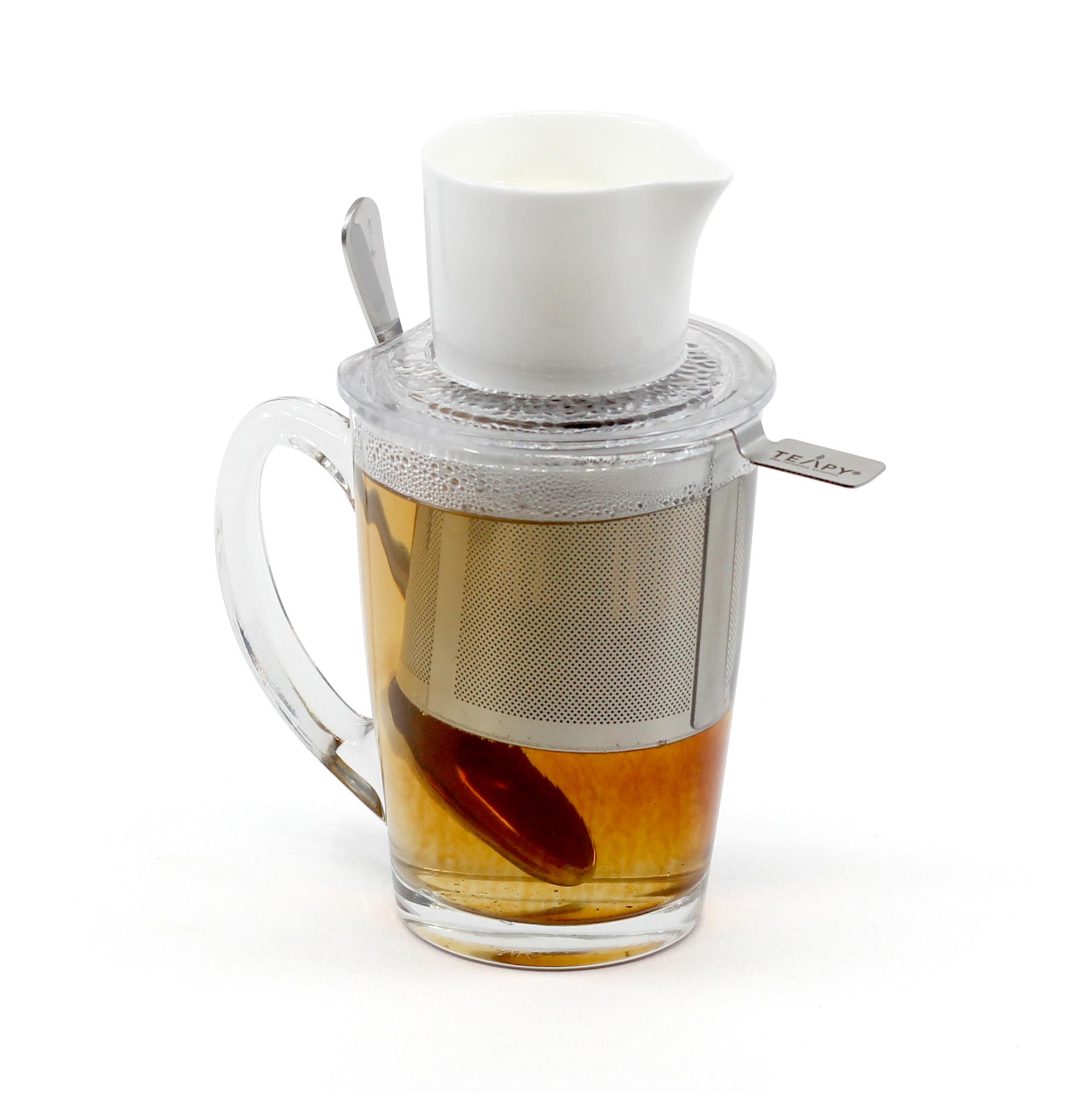 TEAPY® T-4-1™ | TEAPY® Infuser | Ceramic Jug | Spoon