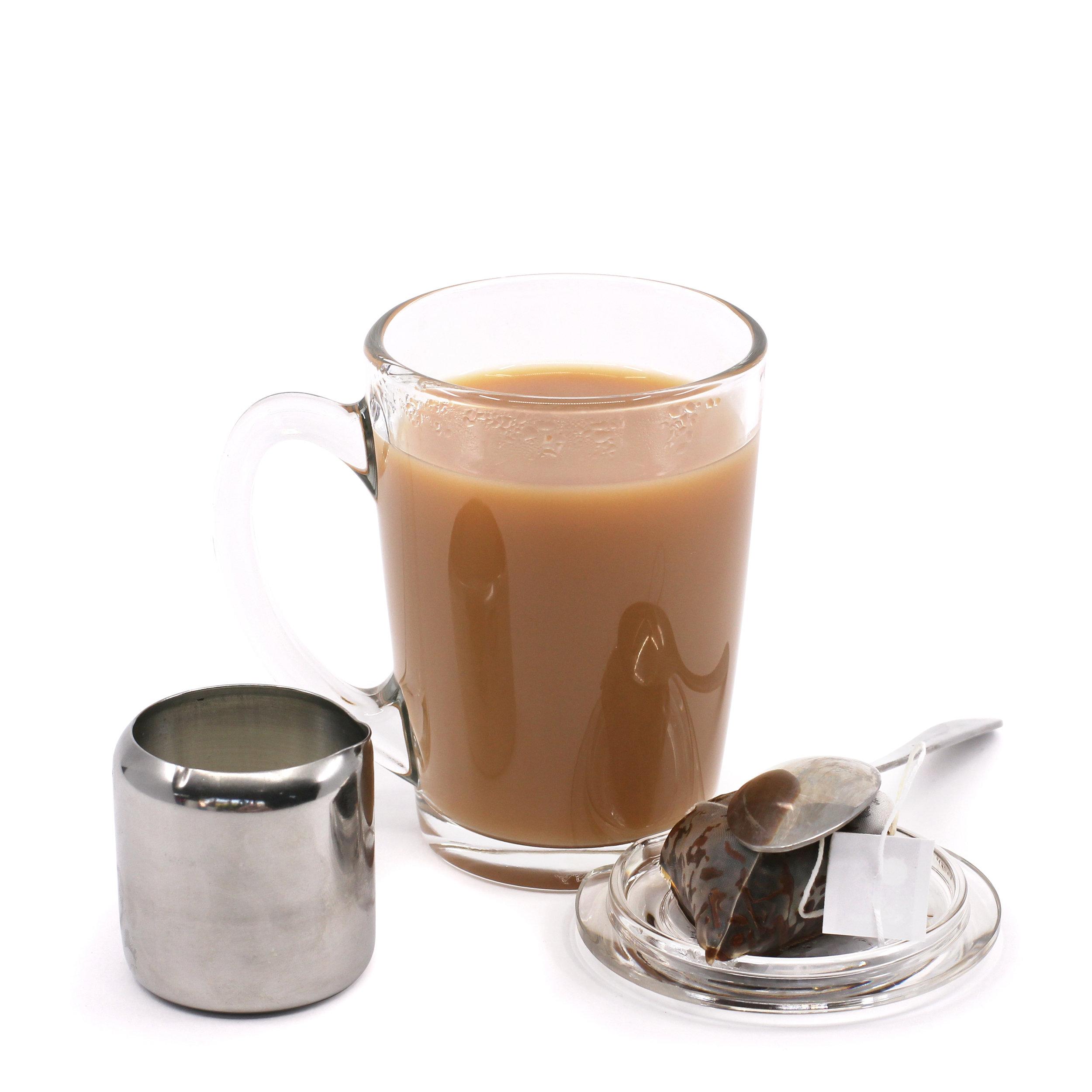 TEAPY® T-4-1™ | Tagged Tea Bag | Stainless Steel Jug | Spoon