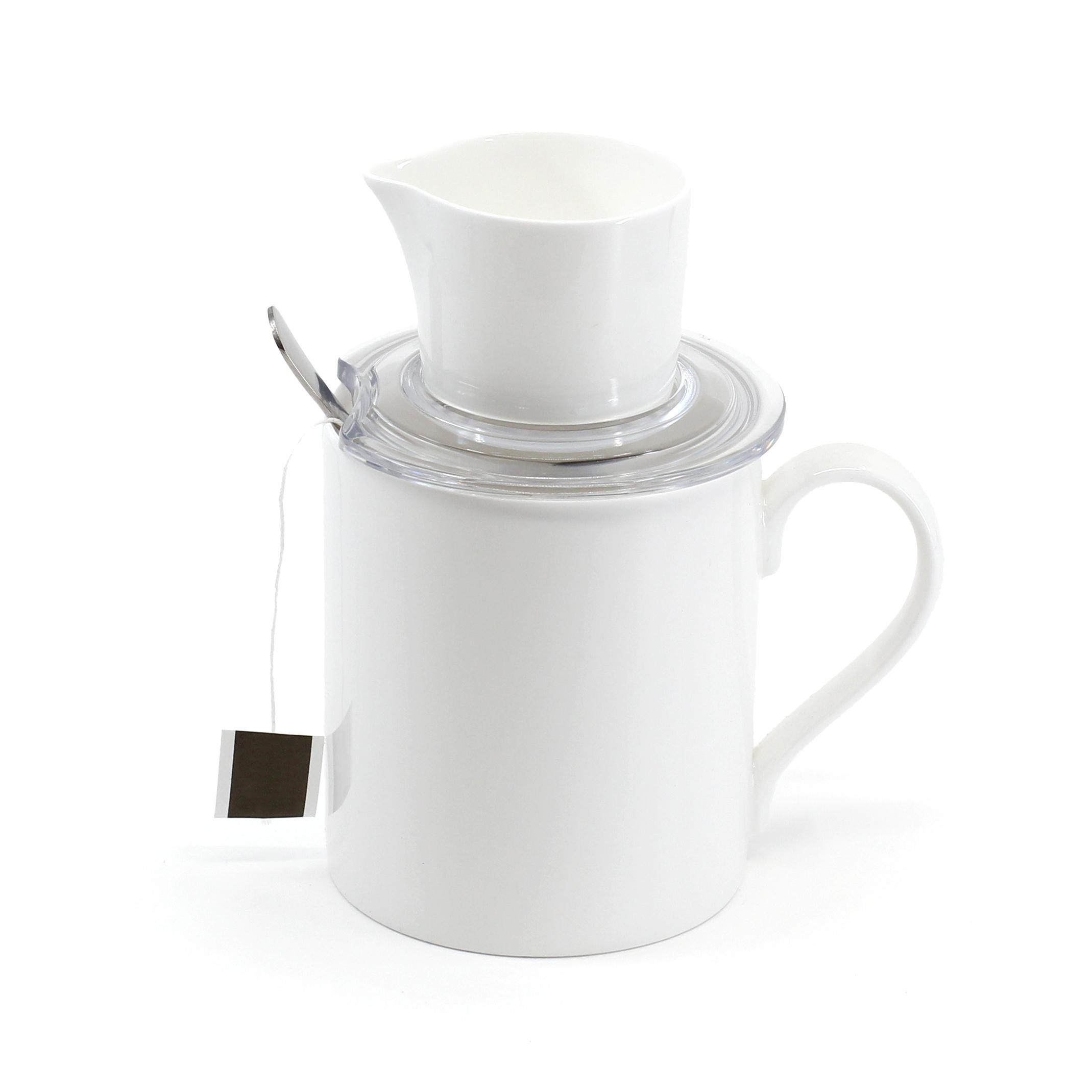 TEAPY® T-4-1™ | Tagged Tea Bag | Ceramic Jug | Spoon