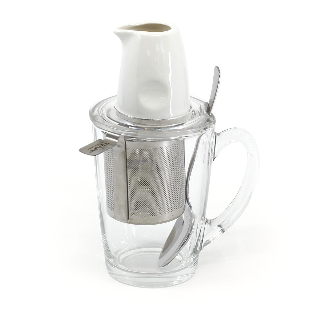 TEAPY® T-4-1™ | TEAPY® Infuser | Glass Mug | Ceramic Jug | Spoon