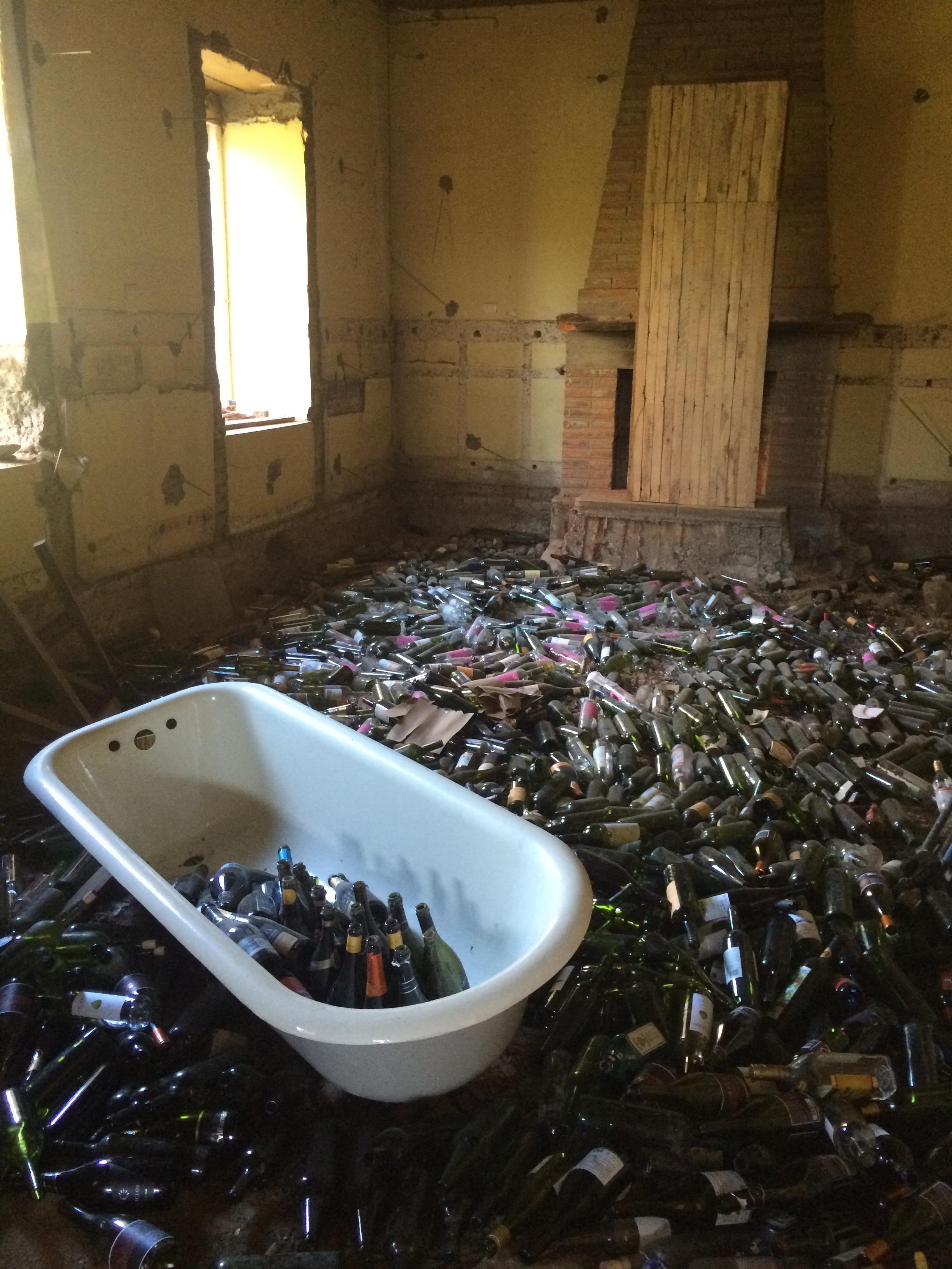 de nieuwe fundering voor de slaapkamer van luiz. Slapen op herinneringen!