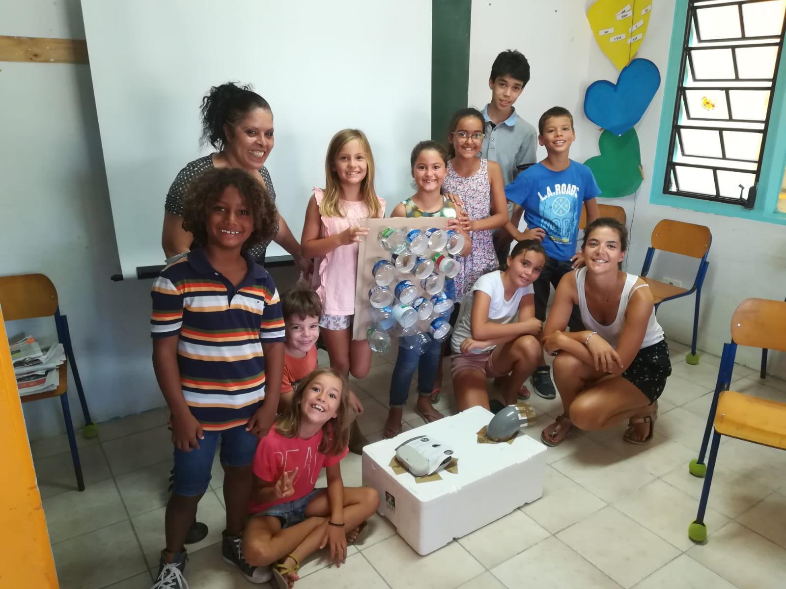 Atelier DIY à Happy school - Quand les enfants préparent la saison cyclonique!