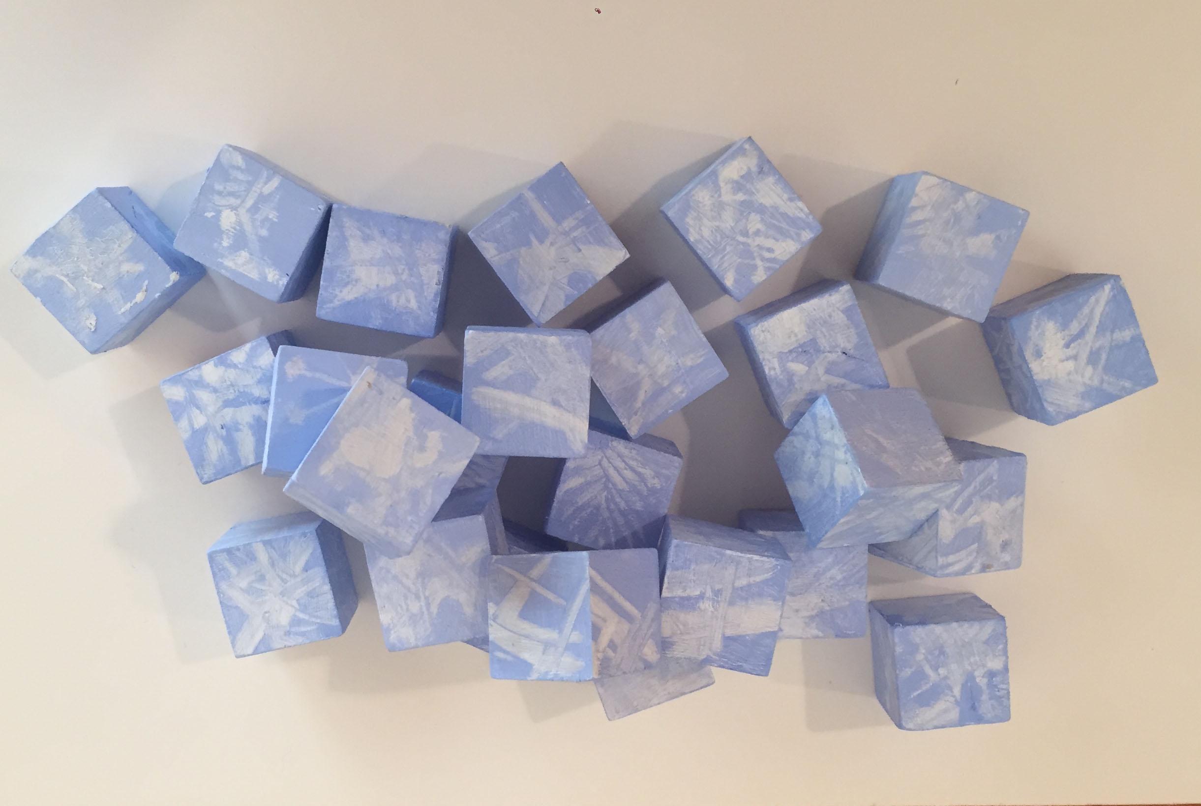 Snow Flake Blocks              acrylic on wood blocks                         2016