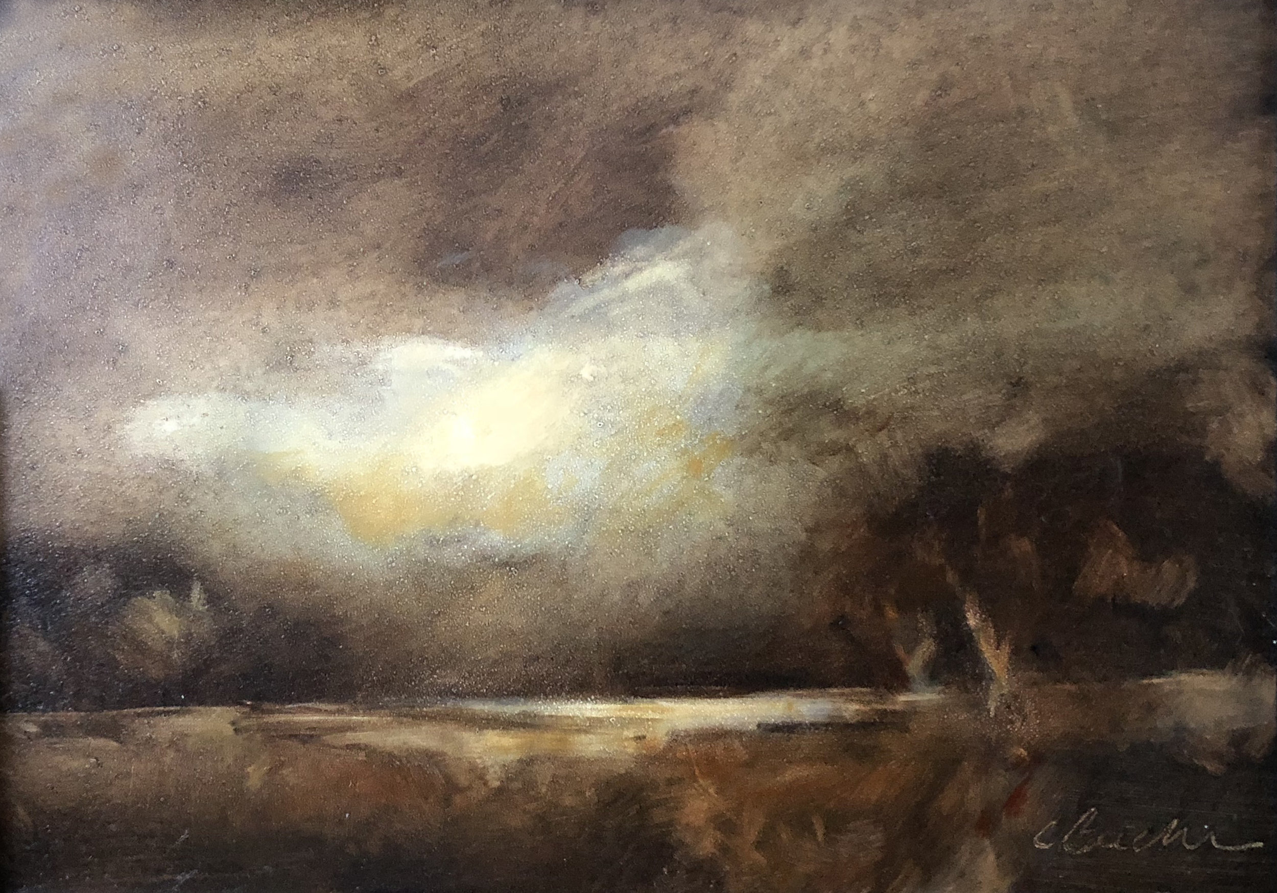 Evening's Dusk  oil on panel 5 X7