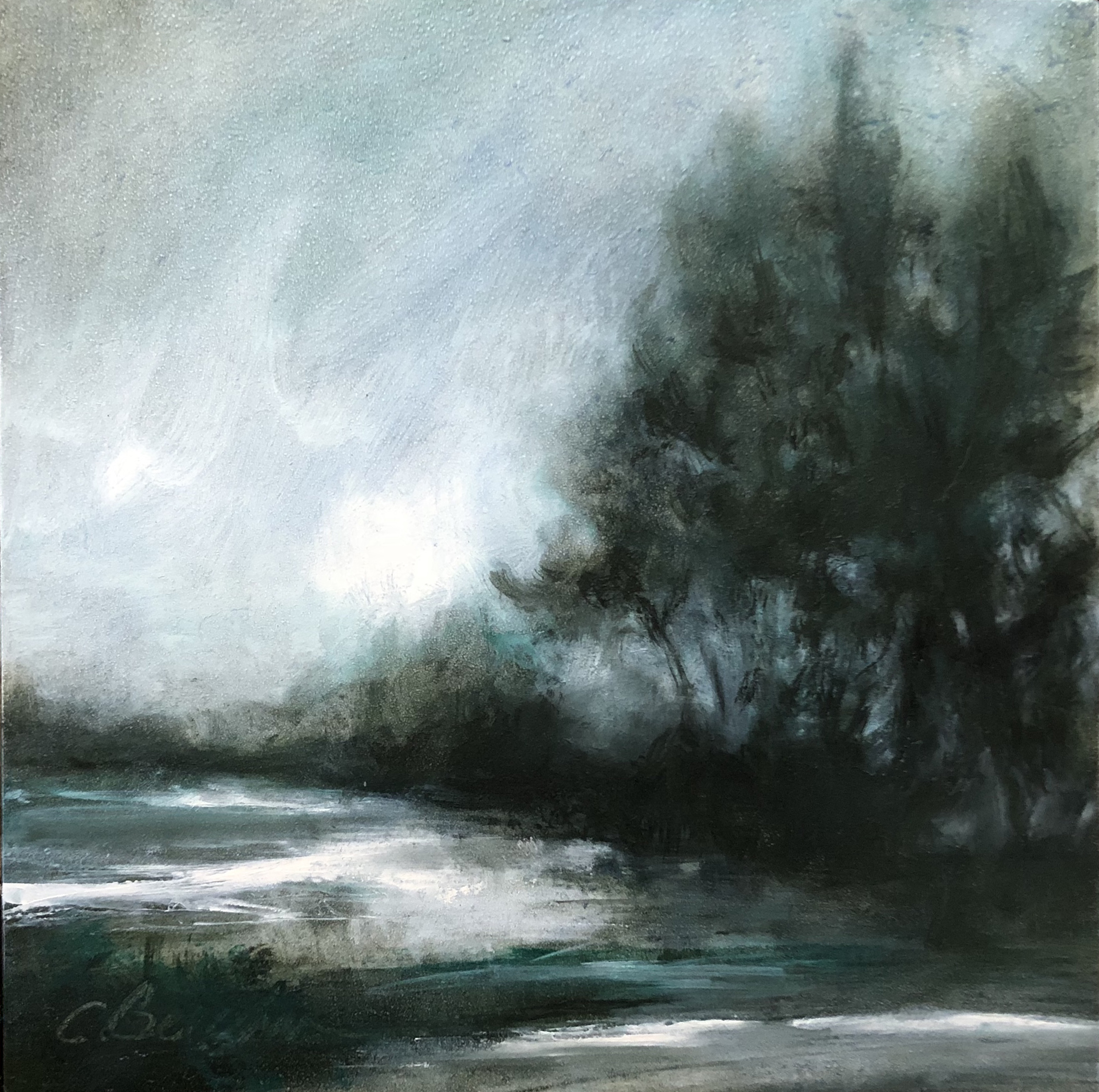 Wintertide Oil on cradled board