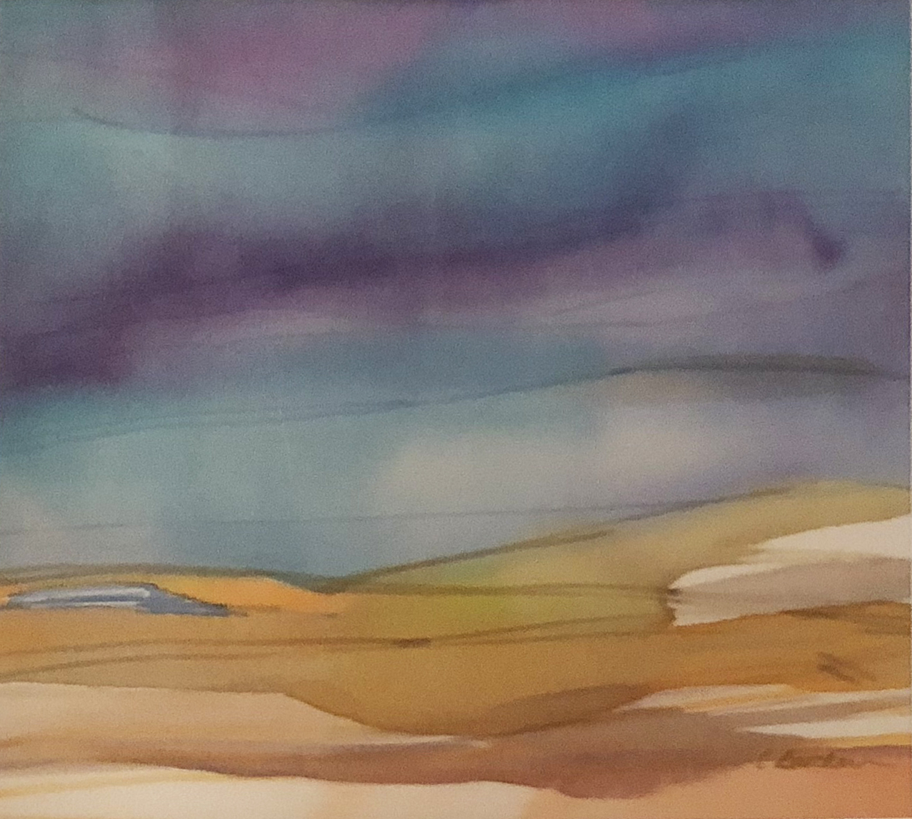 Dune Valley, Cape Cod  Ink on silk