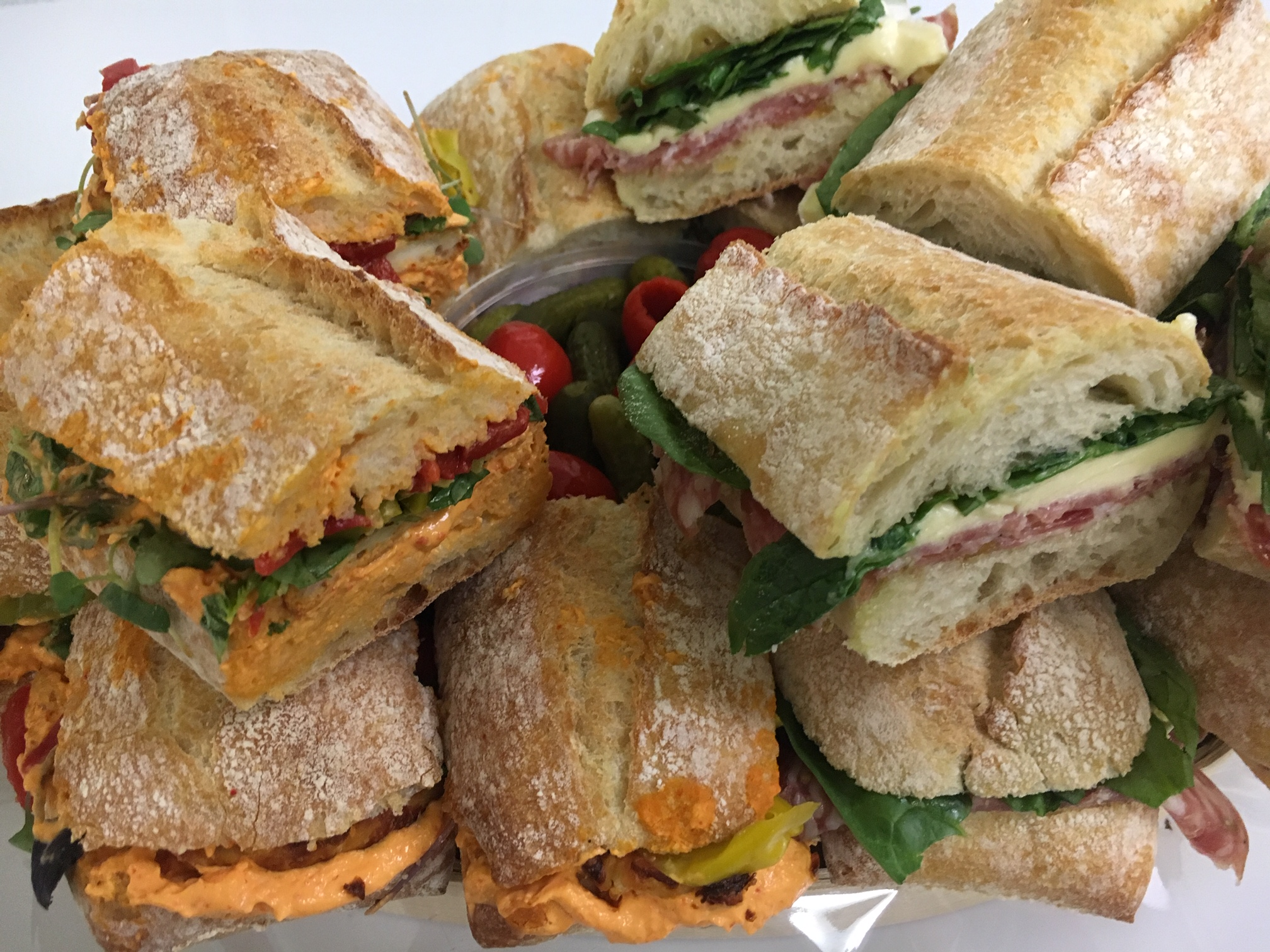 Suited to impress - Our sandwich platters are perfect for office meetings and parties! Starting at $50