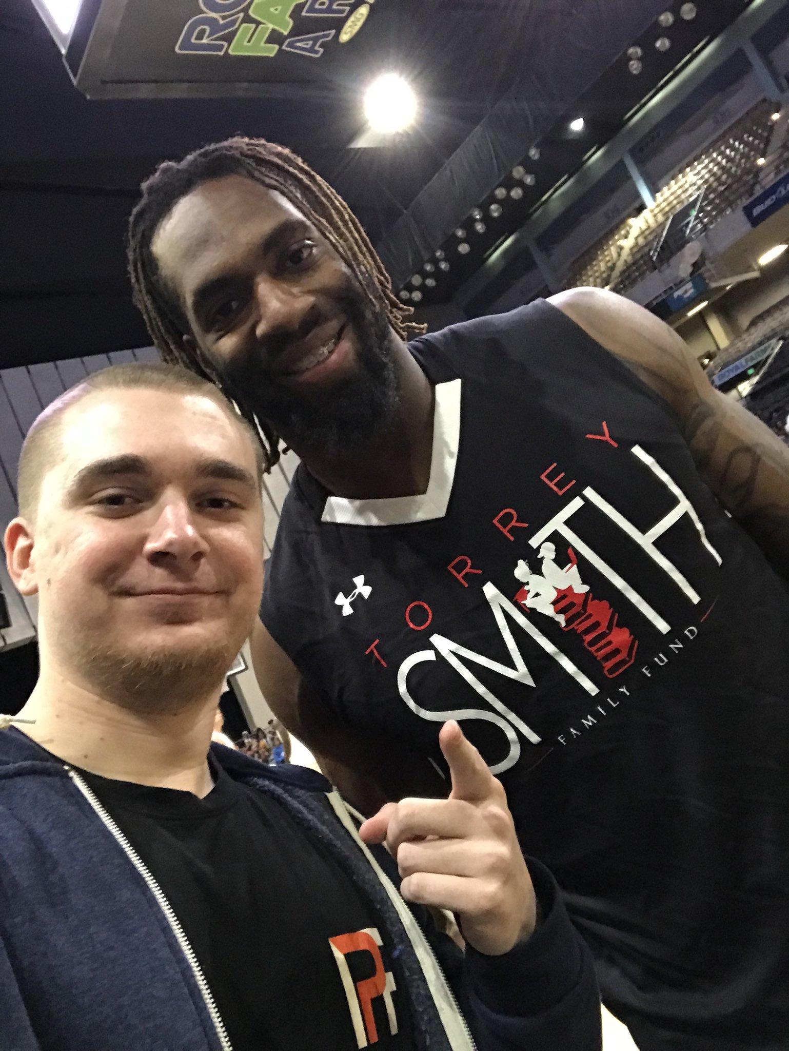 Brandon with Matt Judon at Torrey Smith Family Fund Basketball Game.jpg