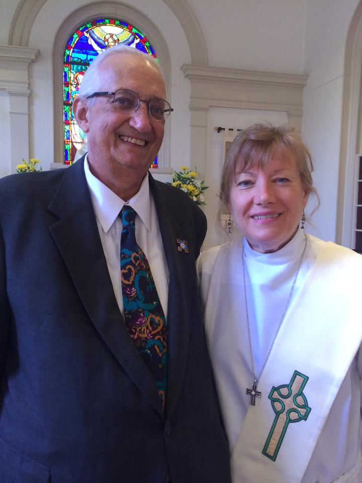 Danny and his wife, the Rev'd Deacon Susan Hill